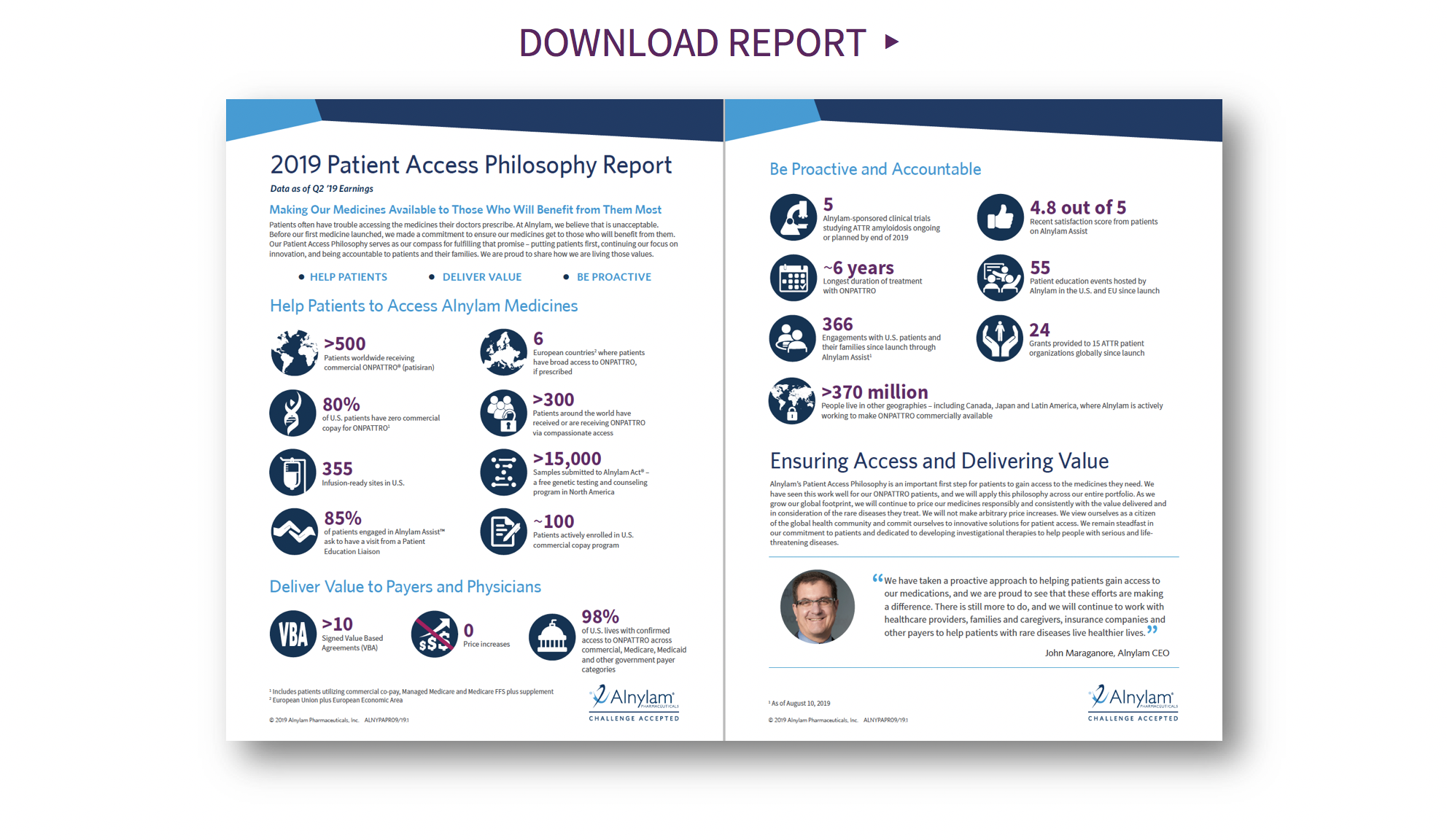 Alnylam 2019 Patient Access Philosophy Report Tumbnail